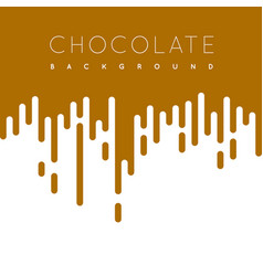 chocolate irregular rounded lines background vector image
