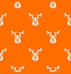 christmas deer pattern seamless vector image