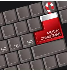 Christmas keyboard vector