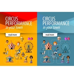 Circus logo design template entertainment vector