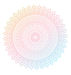 Colourful mandala design vector