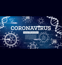 coronavirus influenza medical concept on blue vector image