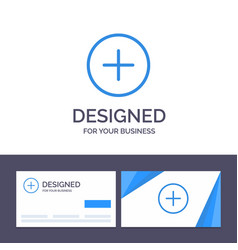 Creative business card and logo template twitter vector