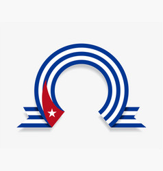 Cuban flag rounded abstract background vector