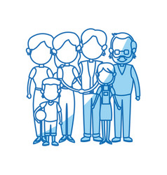 Cute family people together members vector