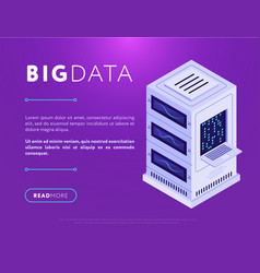 database center tower in web design vector image
