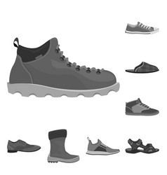 design of man and foot symbol collection vector image