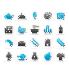 Different king of food and drinks icons 2 vector
