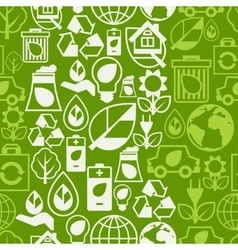 Ecology seamless pattern with environment icons vector image