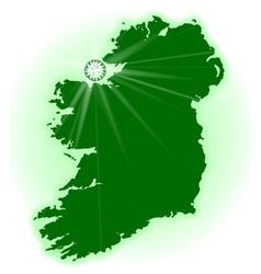 Eire the emerald isle vector