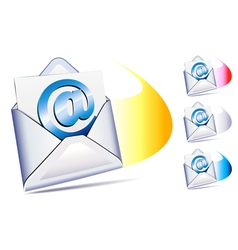 Email sent and arriving sms vector