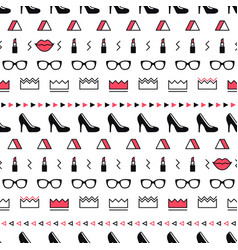 fashion accessories pattern with black high heel vector image