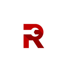 fix letter r logo icon design vector image