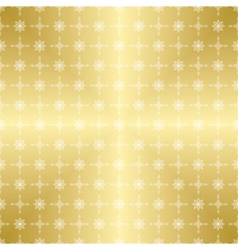 Gold pattern with white ornament vector