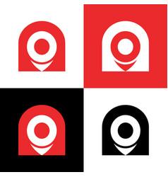 Gps pointer logo icon location pin logo vector
