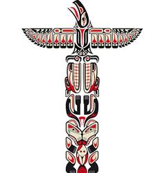 Haida style totem pattern vector image