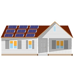 House with solar battery vector image