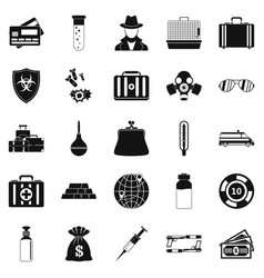 Investigation icons set simple style vector