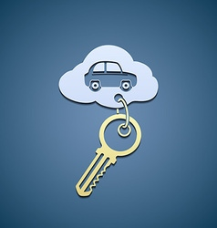 Key from the car vector