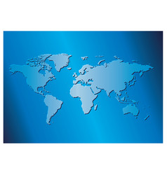 Light blue background with map of the world vector