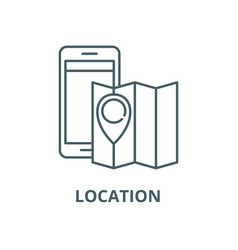 location line icon linear concept outline vector image