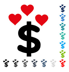 lovely dollar icon vector image