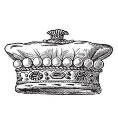Member european nobility vintage engraving vector