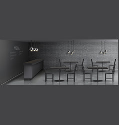mockup cafe interior empty restaurant vector image