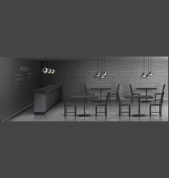 Mockup of cafe interior empty restaurant vector
