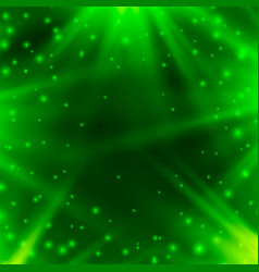 Neon background of green with rays of light vector