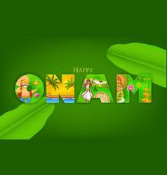 Onam Background vector