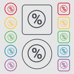 percentage discount icon sign symbol on the Round vector image