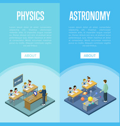 physics and astronomy lessons at school vector image