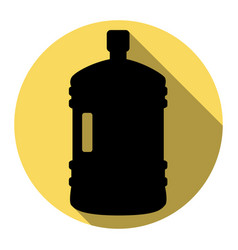 plastic bottle silhouette sign flat black vector image