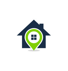 Point house logo icon design vector