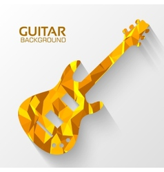 Polygonal electro guitar background concept vector