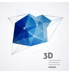 Polygonal geometric 3D printing background vector