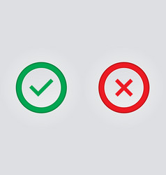 Printcheck marks and crosses on a white background vector