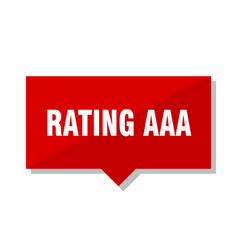 Rating aaa red tag vector
