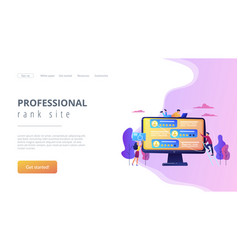 Rating site concept landing page vector