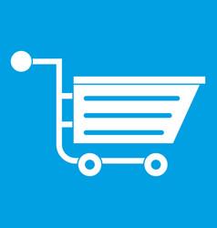 Sale shopping cart icon white vector