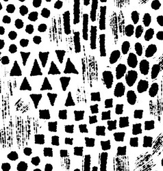 Seamless pattern with ink hand drawn shapes vector image
