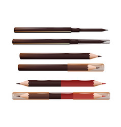 Set cosmetic liners for brows eyes and lips vector