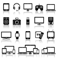 set modern digital devices icons set vector image