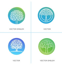 set of business and abstract emblems vector image