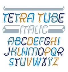 Set trendy fun capital english alphabet vector