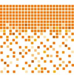 Simple orange mosaic background vector
