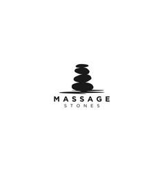 Stone balance yoga logo beauty wellness simple vector