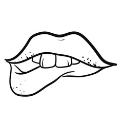 tattoo lips or color vector image