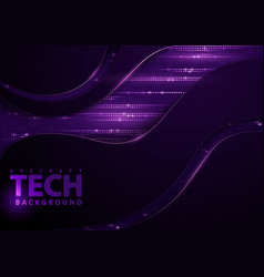 tech background with purple elements vector image